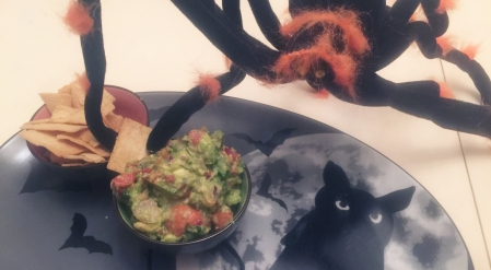 Guacamole so good a Halloween guest can't stay out of it!