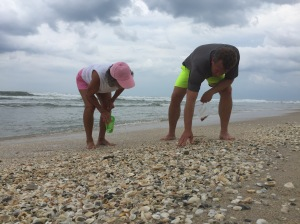 My mom Wilma and my husband Nick wanted to find some sea glass!