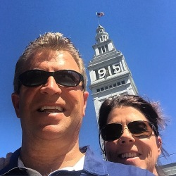 Nick and I play tourist at the Ferry Building