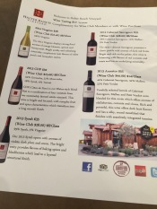 A list of their wines.