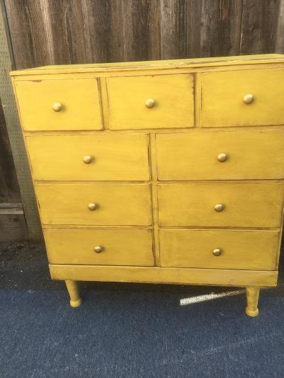 engligh yellow dresser
