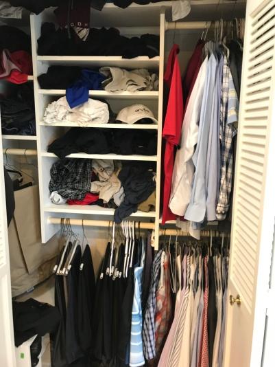 His closet.